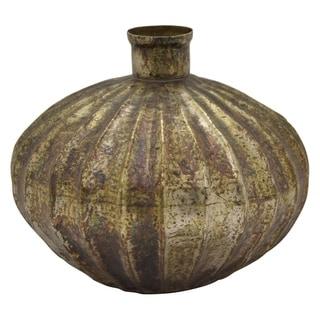 """10.5"""" Metal Vase By Three Hands"""