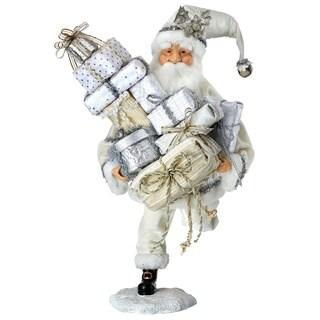 """18"""" running velvet santa holding packages"""""""