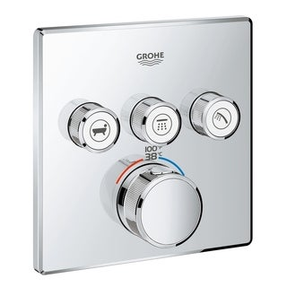 Grohe Grohtherm SmartControl Triple Function Thermostatic Trim with Control Module StarLight Chrome