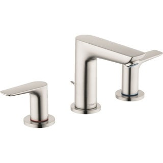 Hansgrohe Talis E Widespread Faucet 150 with Pop-Up Drain, 1.2 GPM Brushed Nickel
