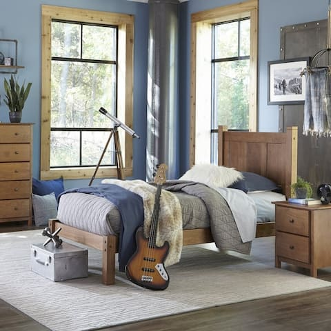Grain Wood Furniture Shaker Twin-size Solid Wood Platform Bed