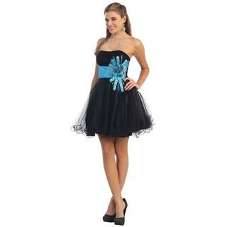 Strapless Short Corset Back Dress