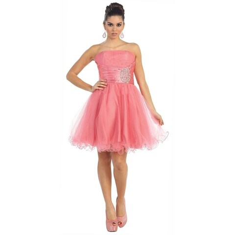 Strapless Party Cocktail Dress