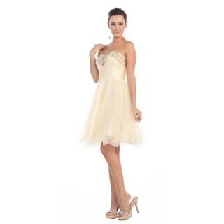 Strapless Flirty Cocktail Dress