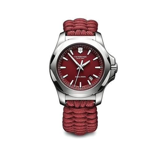 Victorinox I.N.O.X. Red Dial Nylon Strap Men's Watch 241744