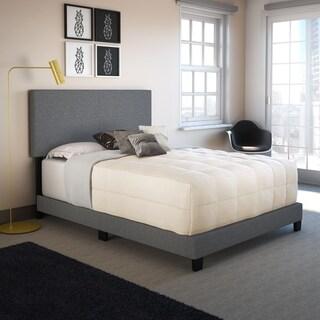 Sleep Sync Tivoli Grey Linen Upholstered Platform Bed Frame