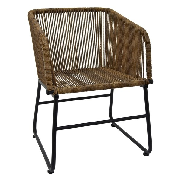 Three Hands Brown Metal 30.5-inch Chair