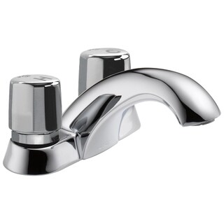 Delta Commerical Two Knob Handle Metering Faucet Chrome