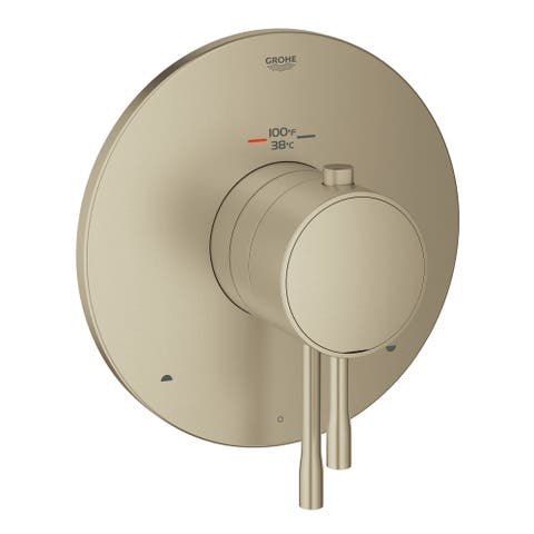 Grohe GrohFlex Essence Dual Function Thermostatic Trim with Control Module Brushed Nickel