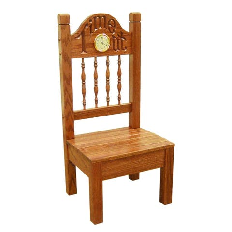 Child's Oak Time Out Chair with Clock
