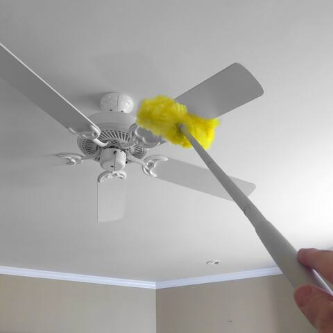 Evelots Ceiling Fan Duster-Microfiber-Removable/Washable-Extend Approx. 4 Feet