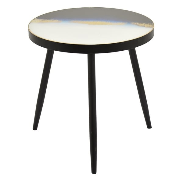Three Hands Blue Wood Decorative Table