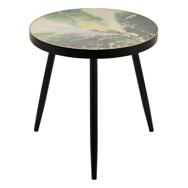 Three Hands Green Wood 24 Inch Decorative Table