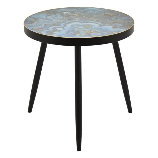 "24"" Wood Decorative Table By Three Hands"
