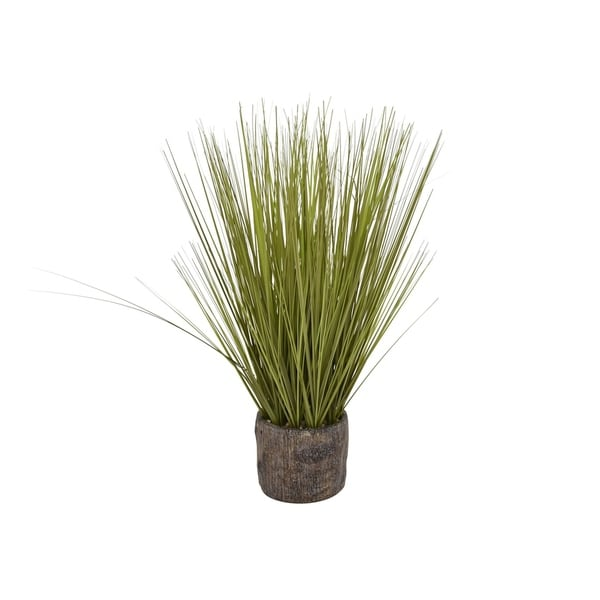 """24"""" Faux Grass In Flower Pot By Three Hands"""