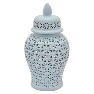 Three Hands Pierced Ceramic Decorative Jar