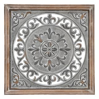Three Hands Medallion Metal Wall Decor