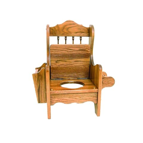 Oak Potty Training Chair with Lid