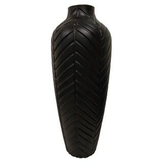 """30.25"""" Vase - Matt Black By Three Hands"""