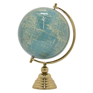 Three Hands Nickel/ Gold Base 18.5-inch Globe