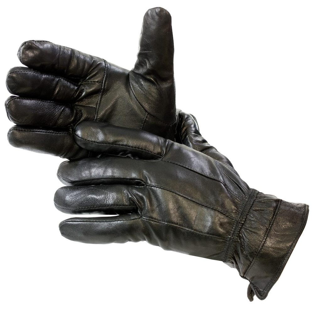 MENS MOTORCYCLE BUTTER SOFT WARM DRIVING GLOVES WITH ZIPPER LINED BIG SIZES 5X