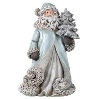 """13"""" Resin Artic santa w/swirled coat"""""""