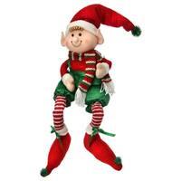 41 Inch Fabric Sitting Christmas Candy Elf