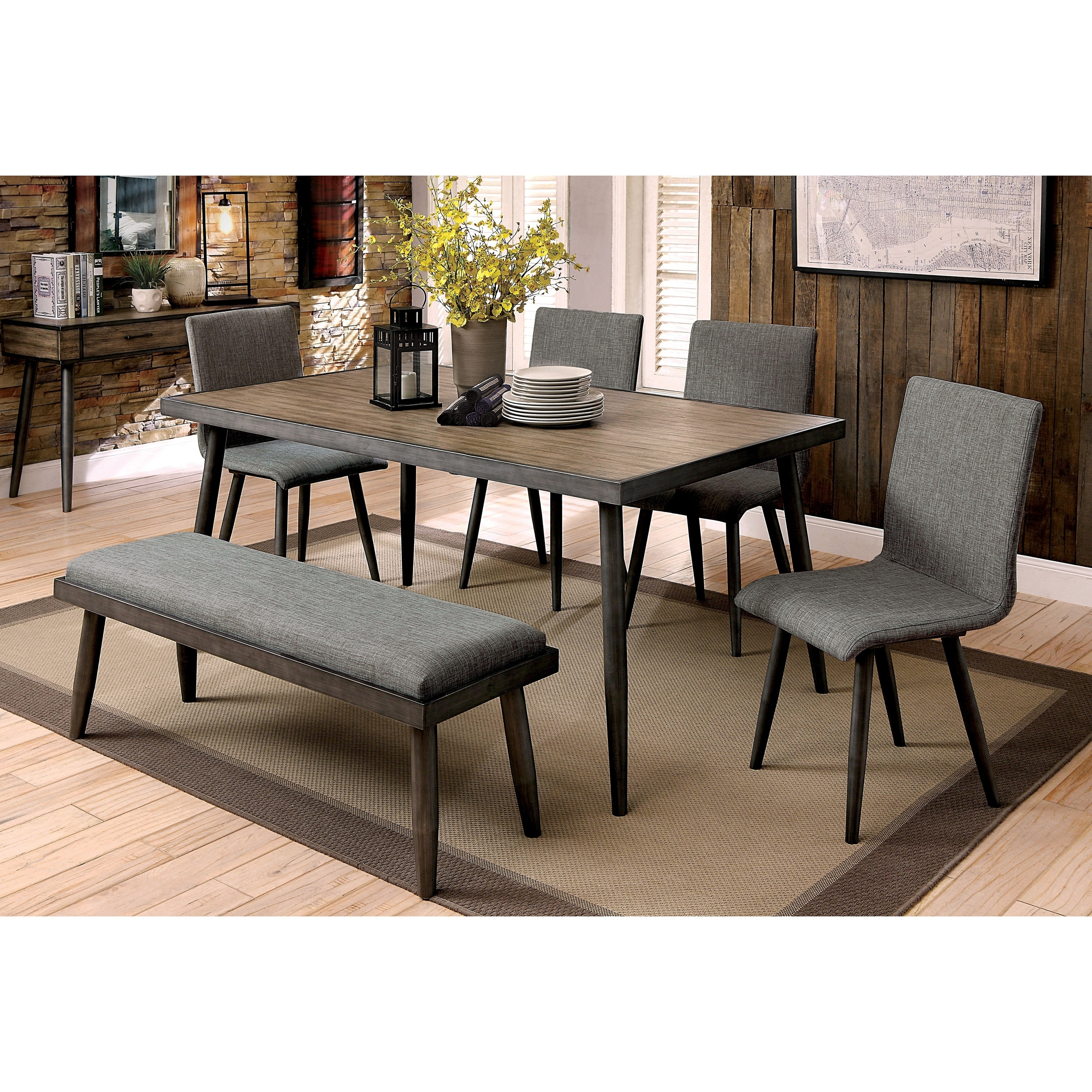 Wondrous Carson Carrington Breisgau 6 Piece Dining Table Set With Bench Gmtry Best Dining Table And Chair Ideas Images Gmtryco