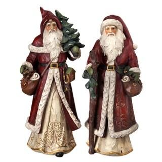 """15"""" Resin old world santa tree/lantern Set"""