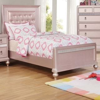 Silver Orchid Gibson Mirror Trim Panel Bed