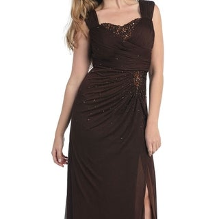 Special Occasion Evening Dress With Thigh High Slit