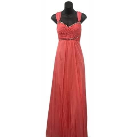 Cap Sleeve Evening Dress