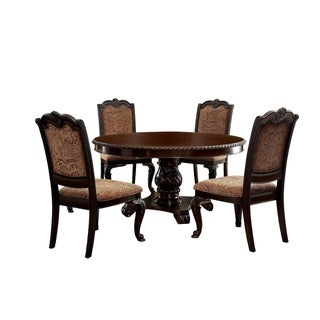 Furniture of America Bevo Traditional Cherry 5-piece Dining Set