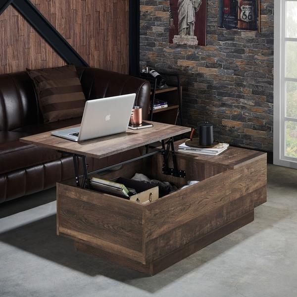 Shop Furniture Of America Hernan Distressed Lift Top