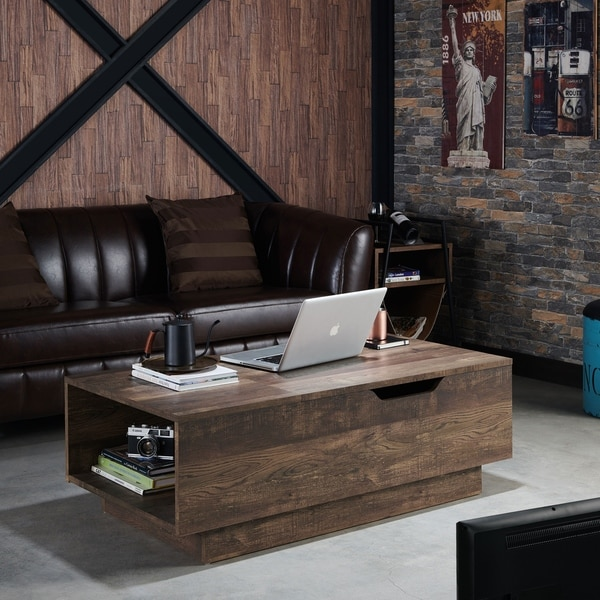 Shop Best Master Furniture Weathered Oak Sleigh: Shop Hernan Rustic Reclaimed Oak Distressed Lift Top