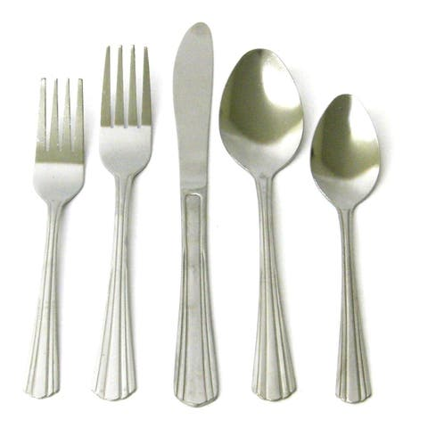 45PC Stainless Steel Flatware Service Set for 8