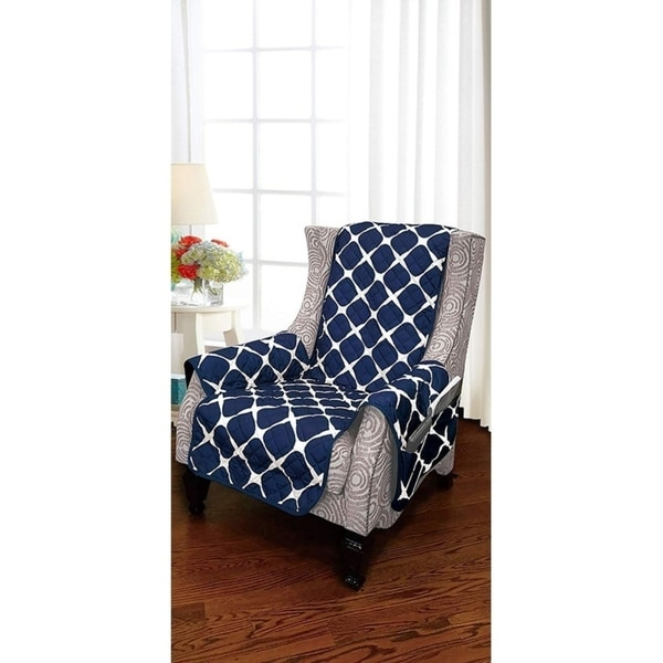 Elegant Comfort 2-Tone Bloomingdale Pattern Quilted Wing Chair Furniture Protector - wing chair