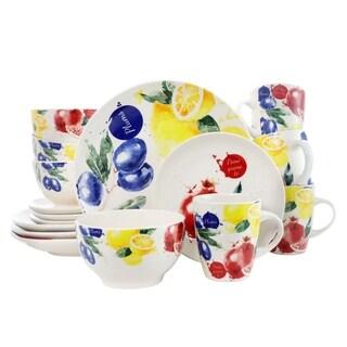 Elama's Tuscan Amore 16 Piece Luxury Stoneware Dinnerware Set