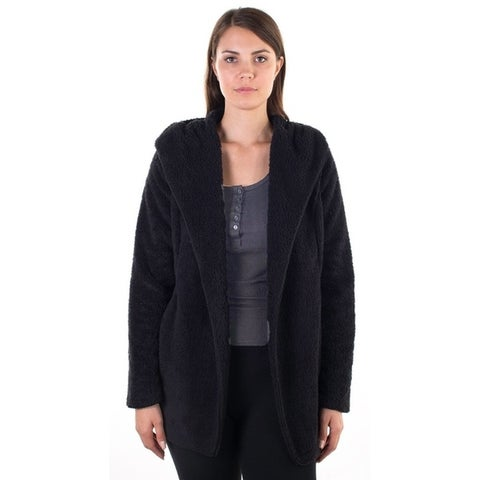 Women's Teddy Cardigan with Hood and Two Front Pockets