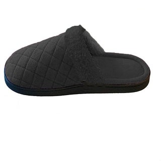 Isotoner Women's Diamond Fleece Clog Black Size 6.5/7