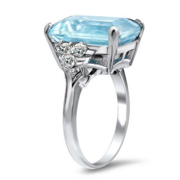 Shop Royal Luxe Wedding Inspired Emerald Cut Aquamarine Color