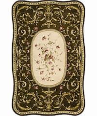 Nourison Hand-tufted Serenata Brown Wool Rug (5'3 x 8'3) - 5'3 x 8'3