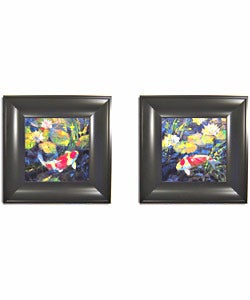 Leif Ostlund Water Garden 2-piece Framed Art Set