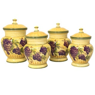 Link to Sonoma Collection Deluxe 4-piece Canister Set Similar Items in Kitchen Storage