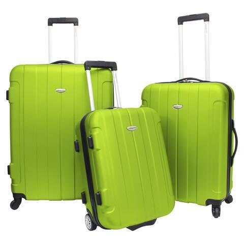 Traveler's Choice Rome 3-piece Hardside Lightweight Spinner/Rolling Luggage Set