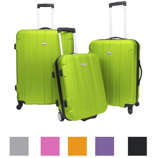 Traveler's Choice Rome 3-piece Hardside Lightweight Spinner/Rolling Luggage Set (5 options available)