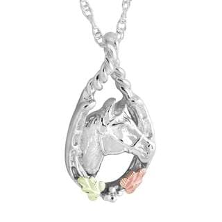 Black Hills Gold and Silver Horse Pendant