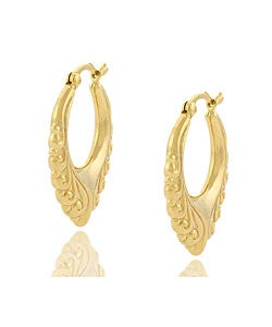 Mondevio 18k Gold over Sterling Silver Vintage Design Earrings