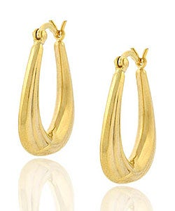 Mondevio 18k Gold over Sterling Silver Triangle Earrings