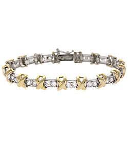 Icz Stonez 18k Gold over Sterling Silver CZ X-and-O Bracelet (Option: 18k) https://ak1.ostkcdn.com/images/products/2539329/Icz-Stonez-18k-Gold-over-Sterling-Silver-CZ-X-and-O-Bracelet-P10756253.jpg?impolicy=medium